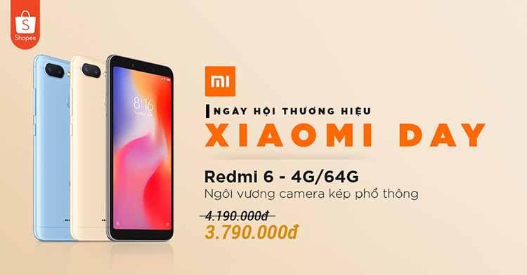 Shopee khuyến mãi lớn cho thương hiệu Xiaomi day