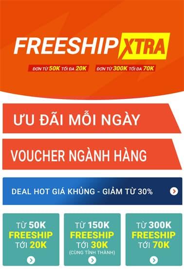 Miễn phí vận chuyển - FreeShipXtra tại Shopee