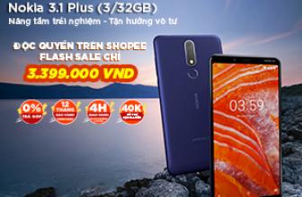 🎁 Nokia 3.1 Plus giá bán chỉ 3.399.000 VNĐ 🎁