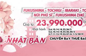 """🎁 Thưởng ngoạn """" Mùa hoa Anh đào tại Nhật Bản"""" giá chỉ từ 23.990.000VNĐ 🎁"""